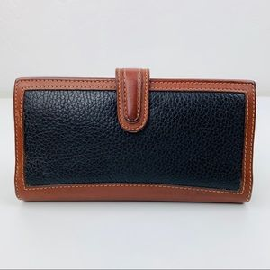 Vintage coach pebbled leather wallet
